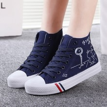 The new 2015 age season han edition tide youth junior high school students canvas shoes girls sandals sports shoes