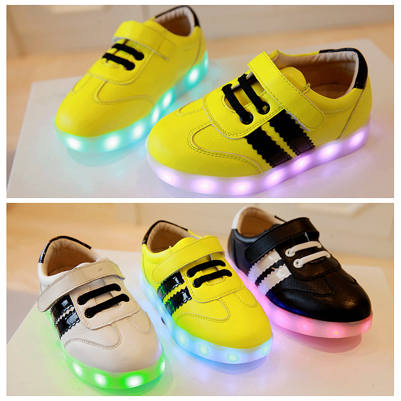 2014 Hitz LED hair shiny shoes for men and women in the child's shoes casual shoes shoes 26-30 yards