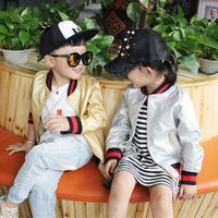儿童2016新款春秋外套亲子棒球服女童韩版皮夹克开衫童装一件代发