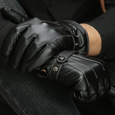 男士皮手套冬季骑行保暖防水防风加绒加厚触屏手套男冬骑车摩托车