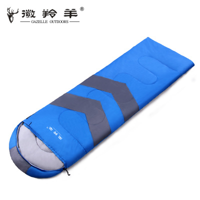 Emblem antelope winter outdoor adult sleeping bag lunch ultralight thick warm autumn and winter mountaineering camping dew Double sleeping