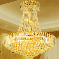 欧式水晶吊灯金色水晶灯客厅吊灯餐厅吊灯led豪华灯具K9水晶吊灯