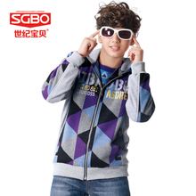 Boy the new during the spring and autumn 2015 male big cherry with thin teenage children fleece coat the 12-13-16 - year - old boy