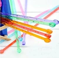 特价单尖毛衣针 优质亚克力 围巾针塑料针 彩色带珠毛衣针 棒针