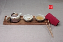 New chaozhou pure manual glazed pottery soil kung fu tea sets four gift boxes with solid wood tea tray