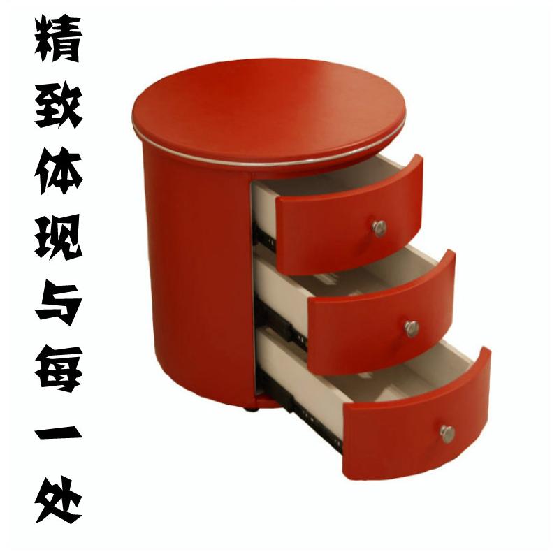 皇朝家具质量怎么样_圆形床头柜 家居时尚圆床床头柜 简约现代皮质小储物柜 特价包邮