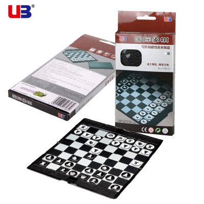 UB AIA folding wallet magnetic chess board chess board Mini Portable Slim