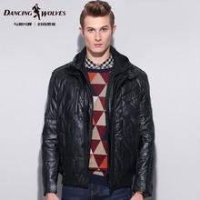 冬装新款与狼共舞羽绒服短款可脱卸帽男士外套休闲男款保暖男装潮图片