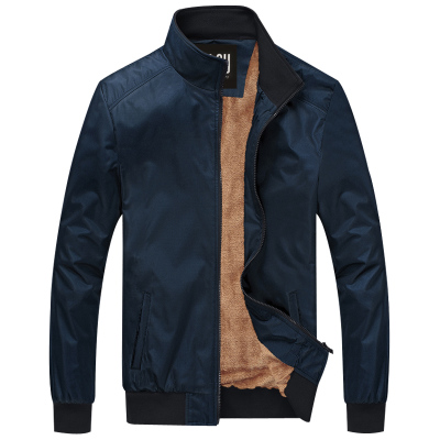 2014 new men's jacket fall and winter clothes plus velvet Business collar jacket men's casual jackets jacket