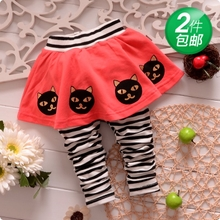 6 and 12 months autumn outfit the 1-2-3 - year - old female baby pants baby clothes girls fall they fake divided skirt two pieces of cotton