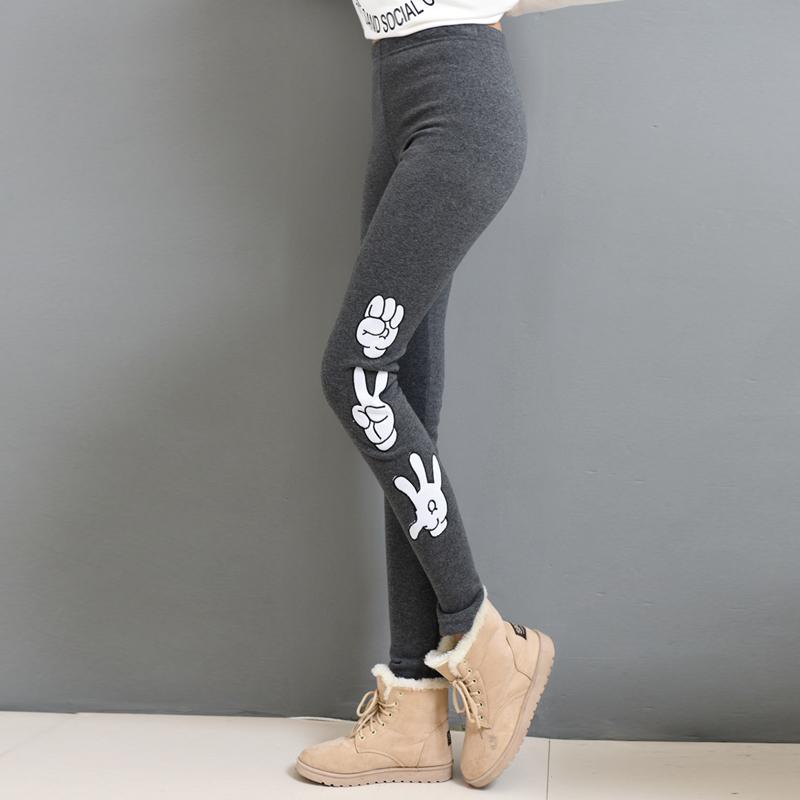 2015秋冬新款高腰加绒弹力打底裤大码女士长裤外穿修身显瘦紧身裤