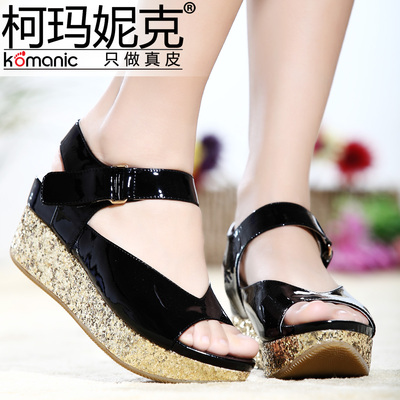 Kema Penny / Komanic elegant candy-colored cow leather open toe shoes simple wedge sandals K44061