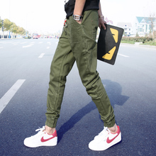 15 spring slacks Male Japanese Lin les handsome curved T beam foot small yards pants men's casual pants Men's trousers