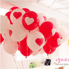 Import NEO Korea latex balloons Red and white printing love balloons Married the wedding proposal love balloons