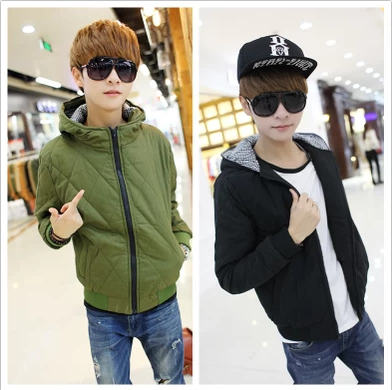 Youth coat junior high school students 13-14 to 15-16-17 years old boy qiu dong outfit hooded cardigan warm cotton-padded clothes