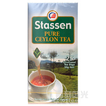 Stassen import company in Sri Lanka have a Ceylon tea bag department to have a red tea bag 25