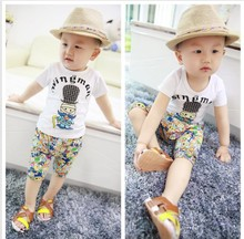 0-1-2-3-4-5 6 baby children's clothing baby boy girl summer suit 12 han edition of the 8-9-10 months