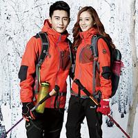 韩版户外冲锋衣男女三合一冬季抓绒两件套防水透气情侣款登山服潮