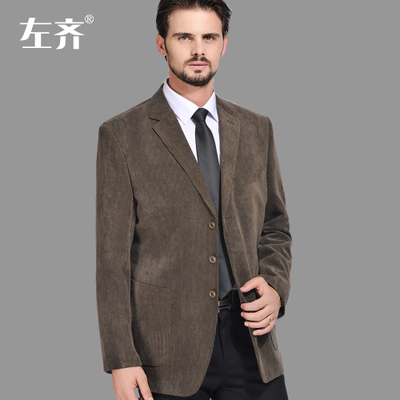 Sarkozy left plus increase fat men leisure suit jacket corduroy men's cotton corduroy suit Heavy yard single West