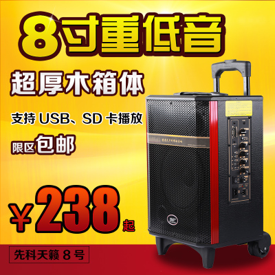 Yushchenko Teana 8 outdoor square dance move trolley battery charging 8-inch portable speaker stereo store promotion
