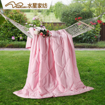 水星家纺 爱丽丝玫瑰七孔夏被 空调被学生被 夏季薄被芯可水洗