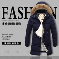 冬季中长款休闲加大码羽绒棉衣男外套韩版修身男装加厚棉服连帽潮