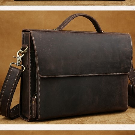 男单肩斜挎手提包 leather man vintage messenger bag school
