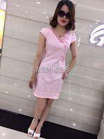 2016年夏季新款艾琳诗怡813修身显瘦典雅气质中国风旗袍连衣裙