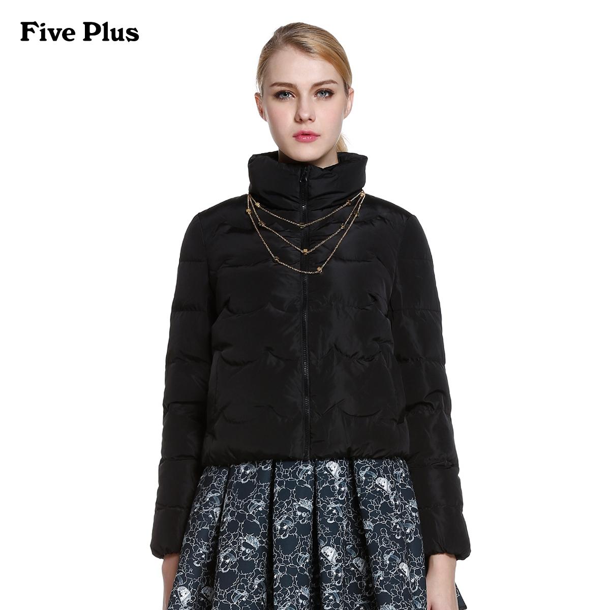 Five Plus新女装纯色宽松高领长袖羽绒服外套2YD4335410