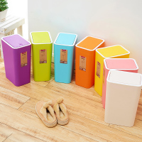 时尚创意日式按压式垃圾桶有盖家用卫生间厕所卧室客厅厨房垃圾筒