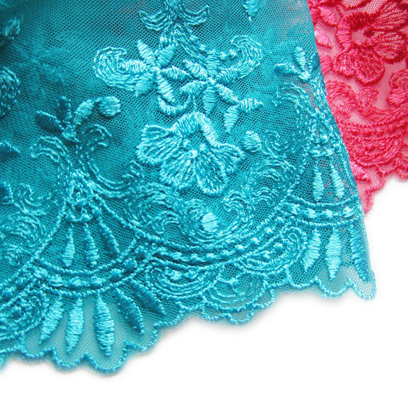 Beautifully handmade diy material pomegranate wide mesh lace embroidery 2 colors