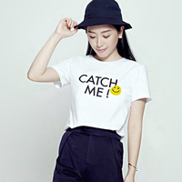 B.PLUS笑脸(catch me)slogan T-shirt_250x250.jpg