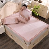 藤席1.8m床凉席床笠三件套1.2米可折叠单人宿舍学生席子1.5