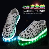 男夜光鞋七彩发光鞋女情侣荧光鞋闪光鞋潮流USB充电灯光鞋子LED鞋