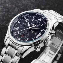 百世伦男表 三针多功能男士手表 时尚休闲商务石英表