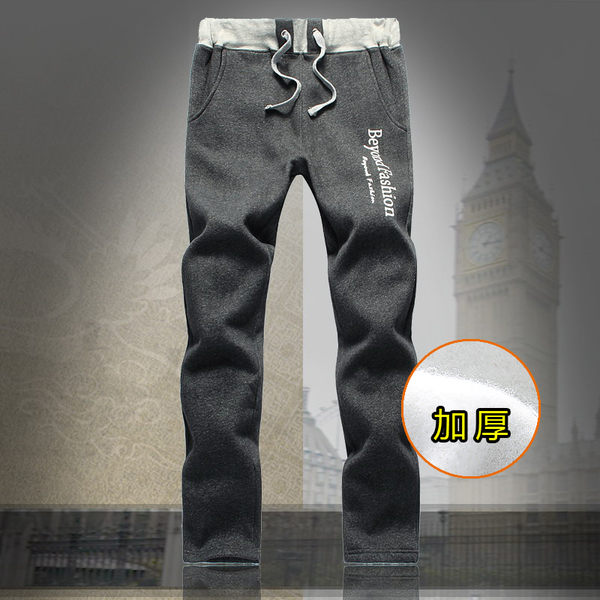 JOESTAR winter plus thick velvet pants influx of Korean men's Wei pants loose fat plus fat XL