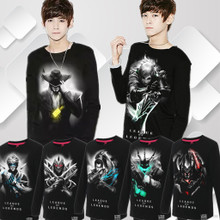 JY ash miss taobao shop hero alliance of new fund of 2014 autumn pure cotton long sleeve T-shirt lol long-sleeved clothes