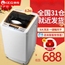 洗衣机全自动 波轮家用 小型洗衣机 韩电6.2公斤 脱水甩干洗衣机