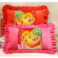 十字绣儿童枕头印花抱枕卡通动漫卧室枕套单人枕一对喜洋洋美羊羊