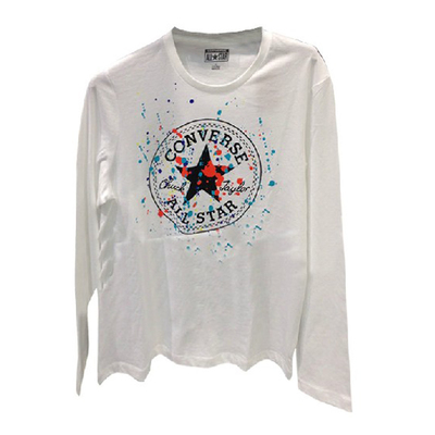 Converse / Converse Men's short-sleeved round neck long-sleeved men's official campaign T-shirt printing 07602C110