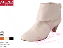 AEE counters authentic love Europe and the United States leather shoes sheepskin boots knight short boots sheepskin don special offer a clearance of 2581