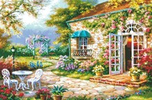 Carefree hut diamond painted custom DIY stickers anime landscape floral characters 5 d guest restaurant decorated drill