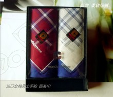 Italian brand CARUSO imported cotton men handkerchief gift boxes cotton handkerchief Suit towel