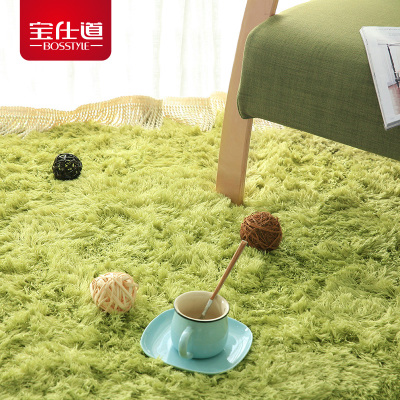Bao Shi Tao Silky modern living room coffee table carpet pad bedroom bed blanket slip mats doormat can be customized