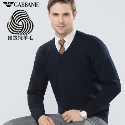 GABBANIE pure V-neck sweater men sweater thick bottoming new winter 2014 men's sweater hedging