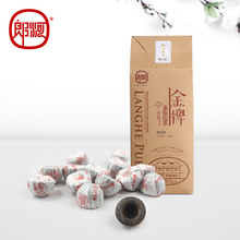 LangHe pu Gold mini Tuo pu-erh tea ripe tea Small tuo tea the good merchantable brand travel office 300 grams