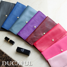 DUCAFUL/card du fu the European and American wind slim lady long leather wallet women's soft large wallet