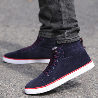 Ya Xuan spring fashion casual shoes new men's high-top canvas shoes wild tide shoes comfortable shoes sportsman board