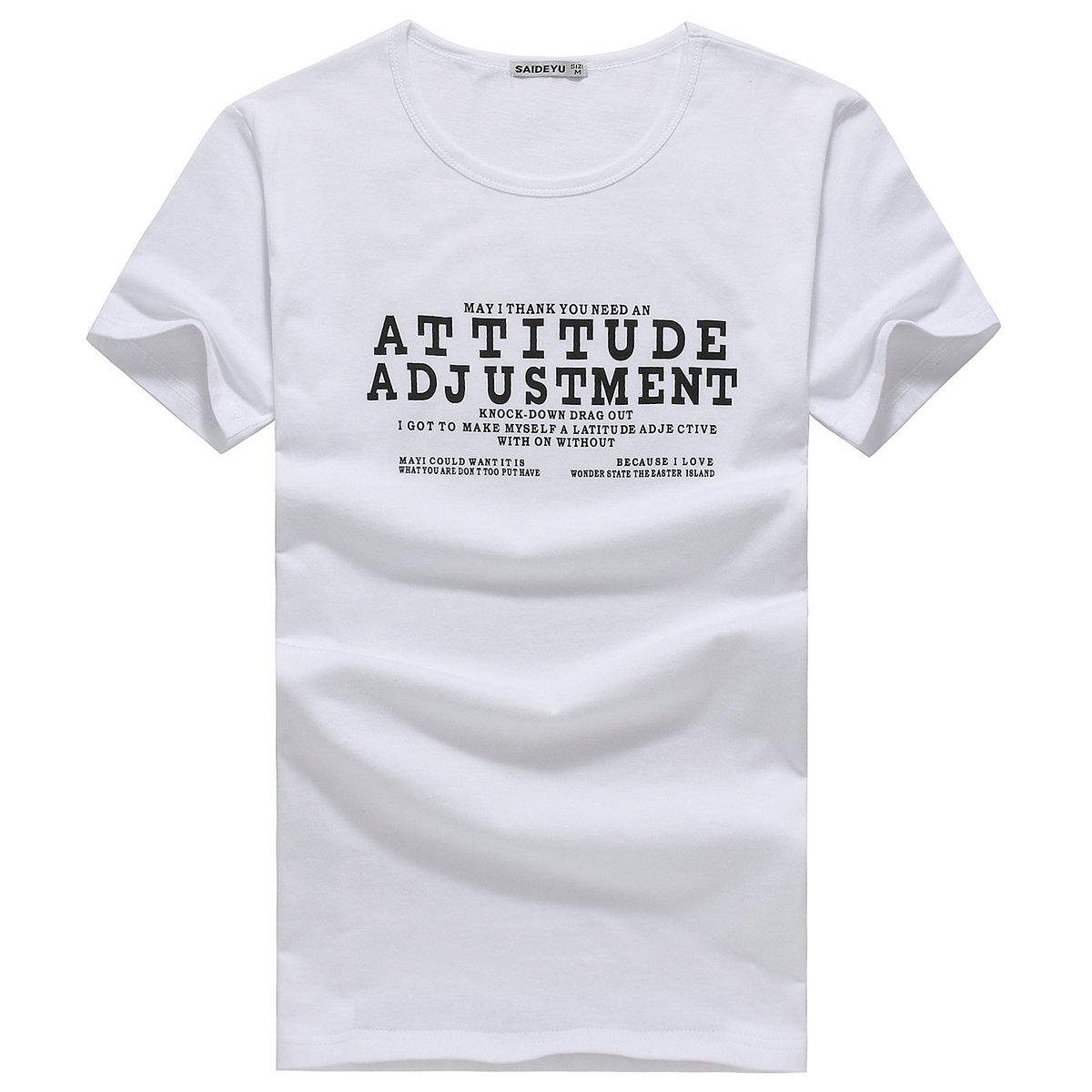 男士短袖t恤 2015夏季男装圆领纯棉男T恤韩版修身个性半截袖小衫