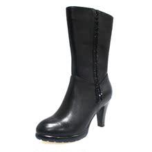 意尔康14冬季新款正品真皮细跟时装靴时尚潮流女鞋S751DM262202图片